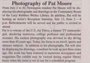 Pat Moore Art On Display At Lucy Robbins Welles Library